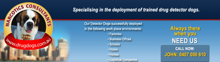 Visit Drug Dogs Home Page - Narcotic Consultants